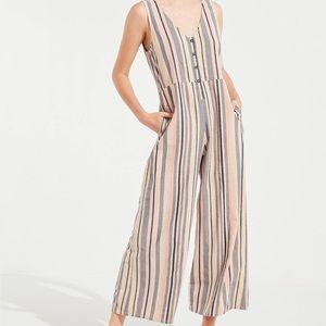UO | Striped Linen Jumpsuit